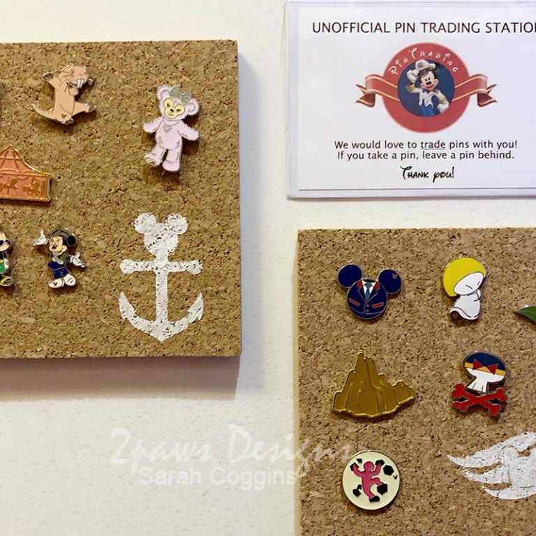 Disney Pin Trading Boards on Stateroom Door