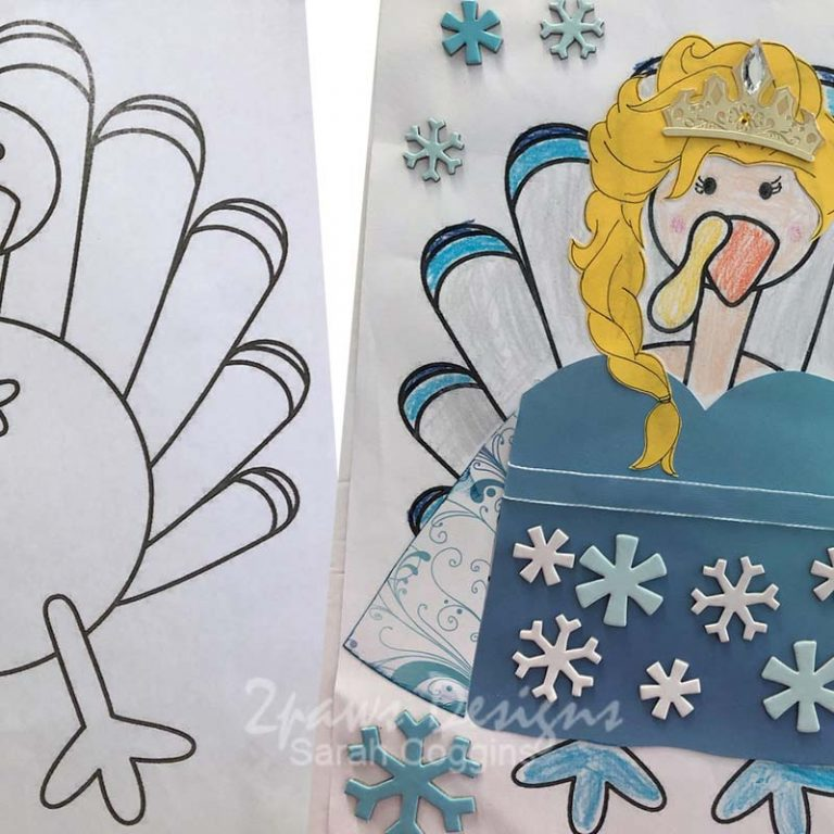 Disguise A Turkey: Queen Elsa before & after