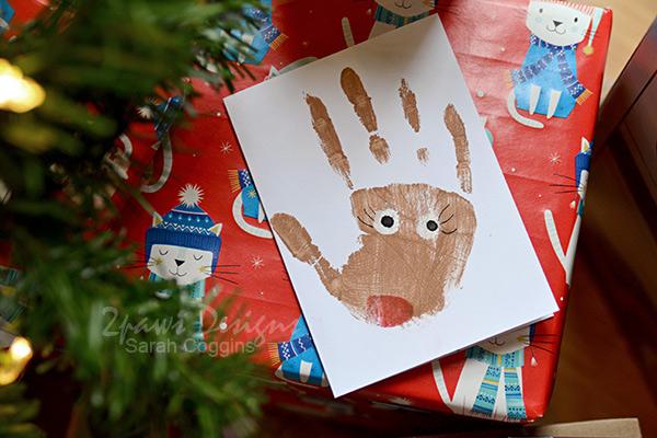Complete Handprint Reindeer Card