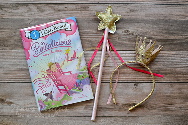 Pinkalicious Book, Star Wand, and Crown