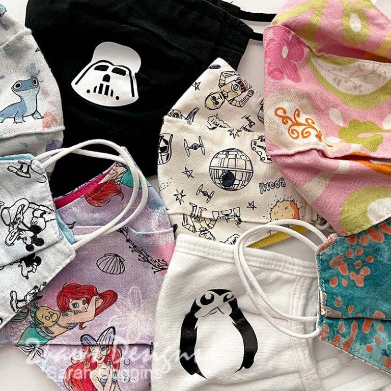 Assorted fabric masks.